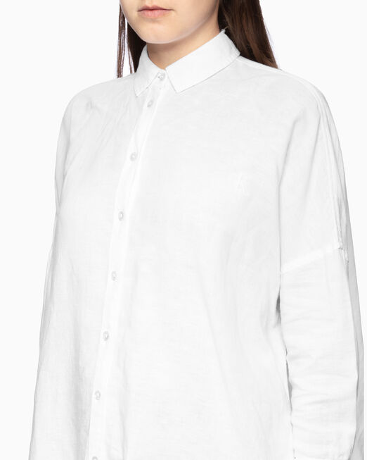 CALVIN KLEIN OVERSIZED LINEN 셔츠