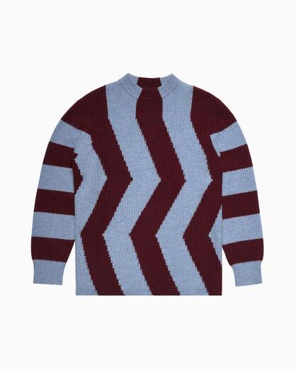 CALVIN KLEIN 지그재그 울 풀오버 스웨터