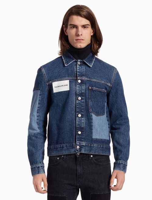 CALVIN KLEIN PATCHED TRUCKER JACKET
