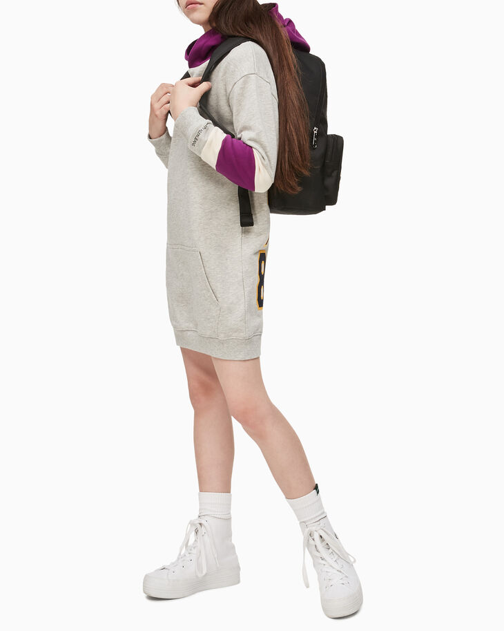 CALVIN KLEIN GIRLS VARSITY HOODED DRESS