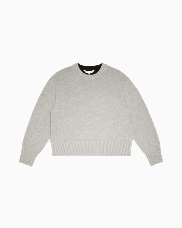 CALVIN KLEIN COLOR BLOCK PULLOVER SWEATER