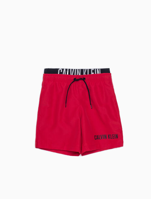 CALVIN KLEIN BOYS DOUBLE WAISTBAND SWIM SHORTS