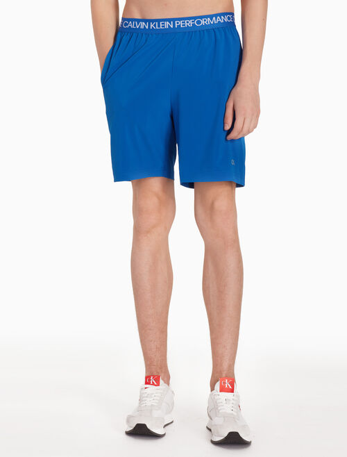 CALVIN KLEIN LOGO SWEAT SHORTS WITH STRIPES