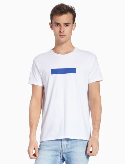 CALVIN KLEIN RUBBERIZED LOGO TAPE TEE