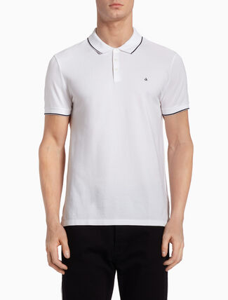 CALVIN KLEIN PAUL DUAL-TONED POLO SHIRT