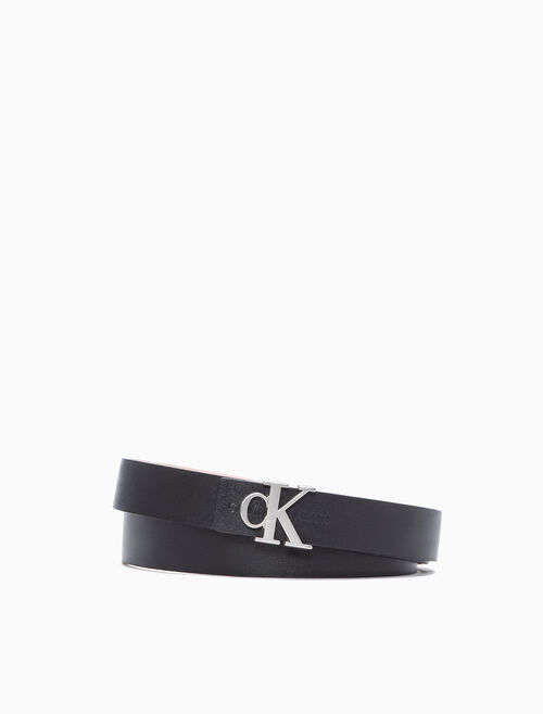 CALVIN KLEIN REVERSIBLE LOGO BUCKE BELT 24MM