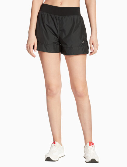 CALVIN KLEIN WOVEN SHORTS WITH RIBBED WAISTBAND
