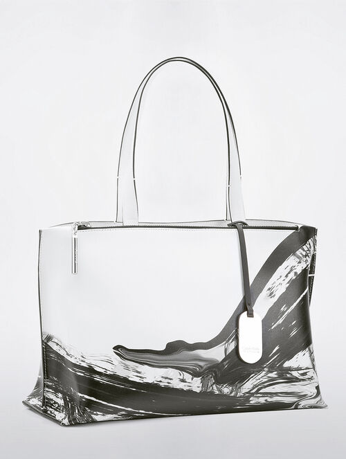 CALVIN KLEIN EDGED EAST WEST TOTE
