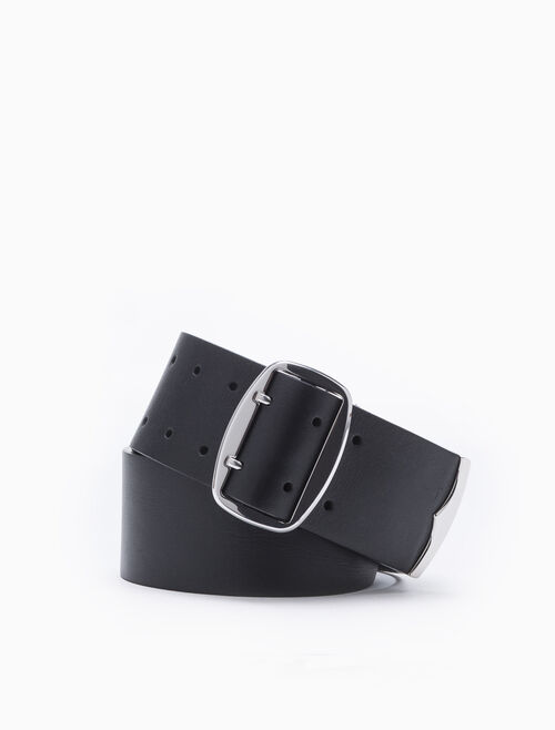 CALVIN KLEIN DOUBLE PRONG BELT WITH METAL TIP