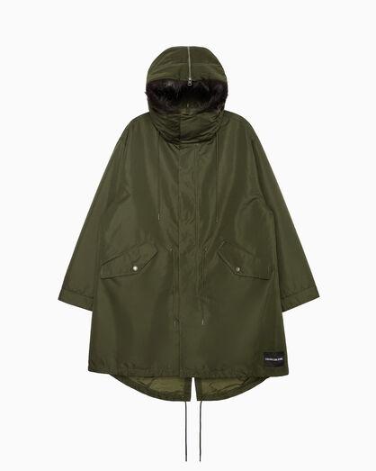 CALVIN KLEIN 투인원 롱 파카 재킷
