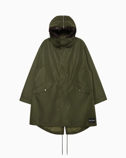 CALVIN KLEIN 2-IN-1 ロングパーカジャケット