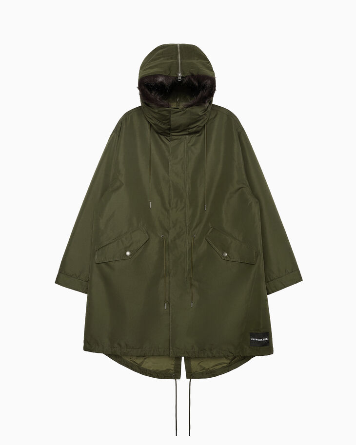 CALVIN KLEIN 2-IN-1 LONG PARKA JACKET