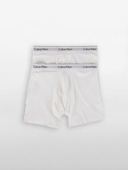 CALVIN KLEIN MODERN COTTON STRETCH BOXER BRIEF 2 PACK