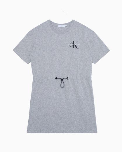 CALVIN KLEIN GIRLS MONOGRAM SHORT SLEEVE DRESS