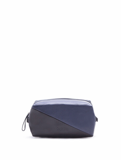 CALVIN KLEIN 2-TONED MEDIUM DOPP KIT