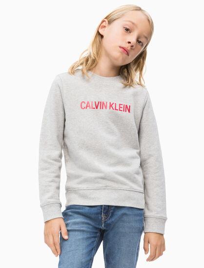 CALVIN KLEIN 남아용 로고 테리 스웨트셔츠