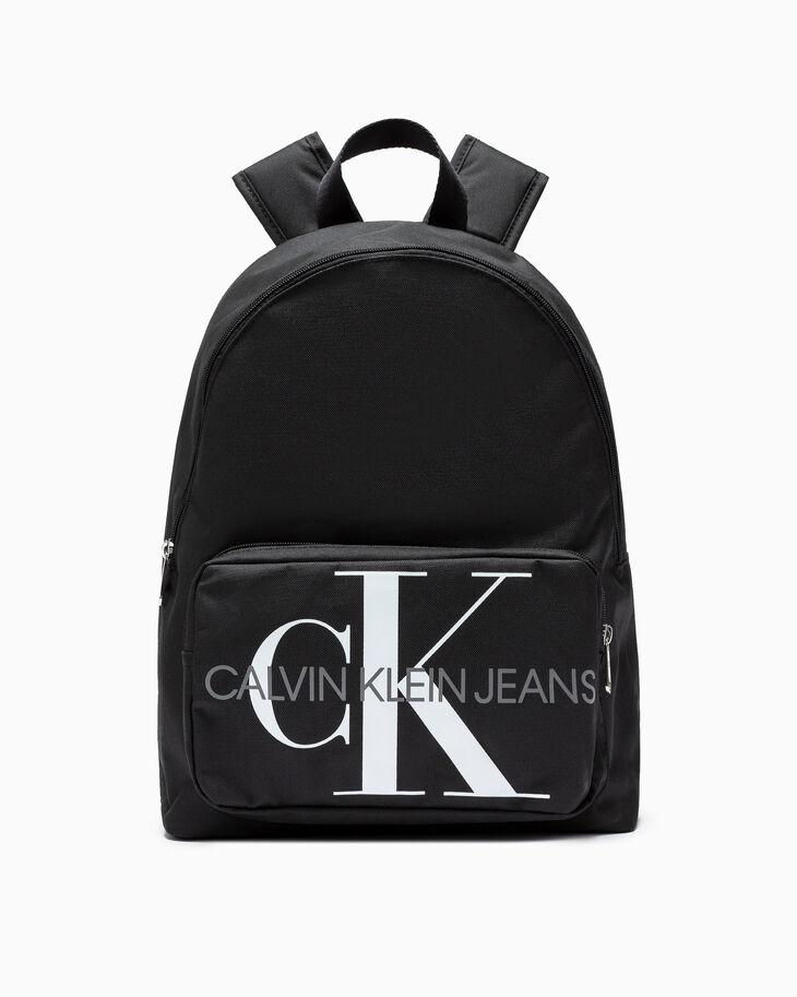 CALVIN KLEIN ICONIC MONOGRAM PRINT CAMPUS BACKPACK