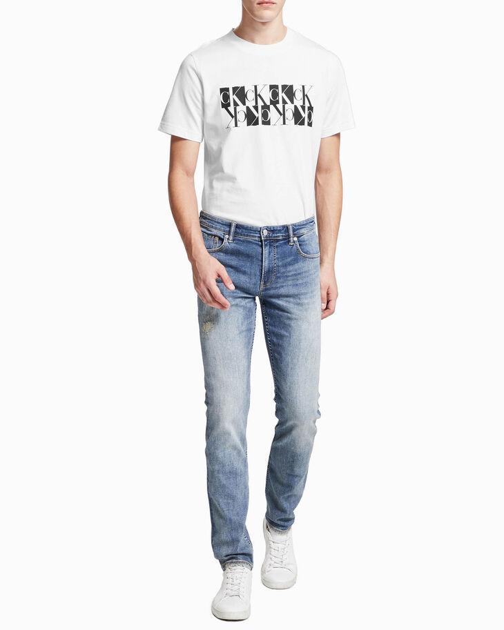 CALVIN KLEIN MIRRORED モノグラムロゴ スウェットシャツ