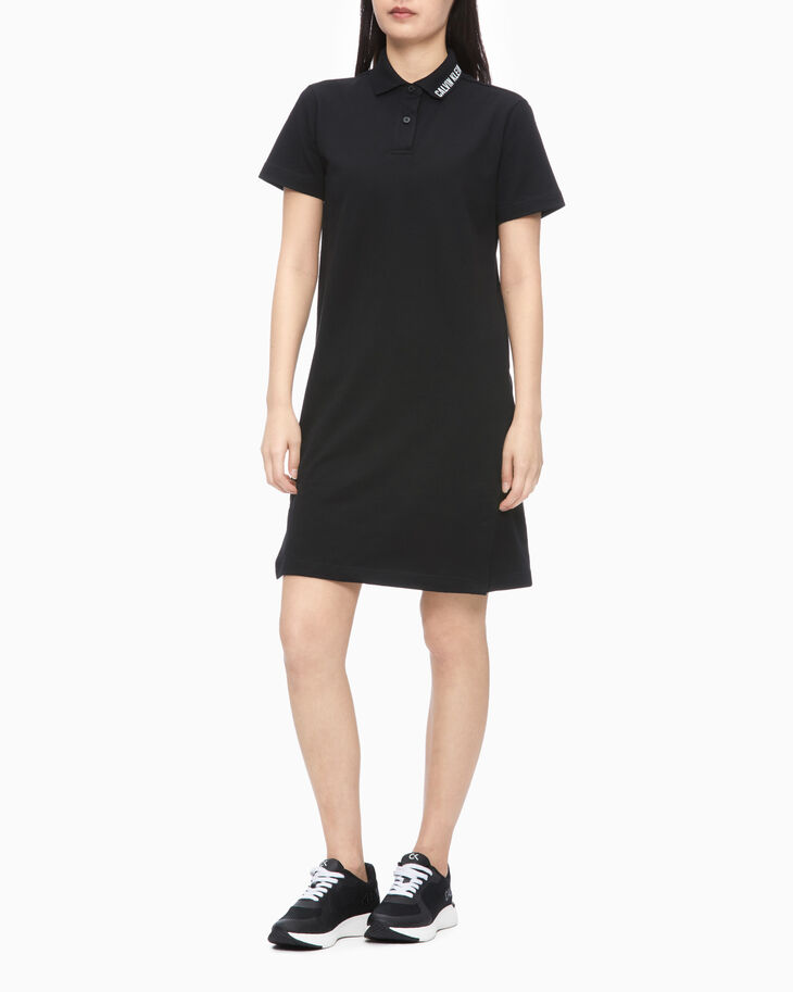 CALVIN KLEIN STATEMENT ESSENTIALS POLO DRESS