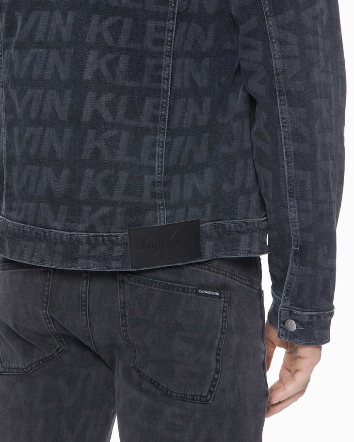 CALVIN KLEIN FOUNDATION LOGO SLIM DENIM JACKET