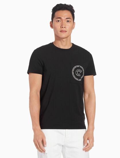 CALVIN KLEIN HORSESHOE 로고 티셔츠