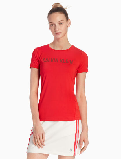 CALVIN KLEIN CK GRAPHIC ESSENTIALS MESH BACK TEE
