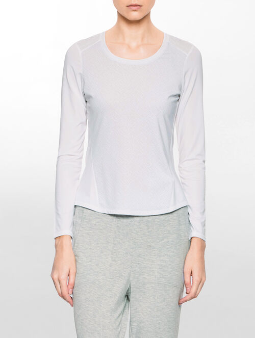 CALVIN KLEIN メッシュインサート グラフィック Tシャツ
