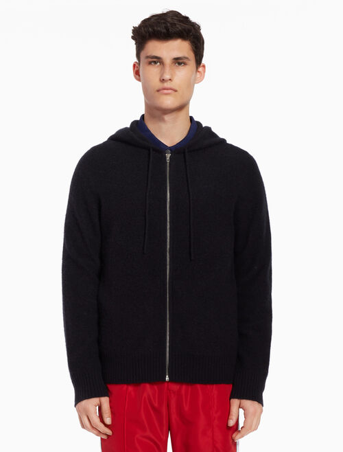 CALVIN KLEIN Knit hooded cardigan