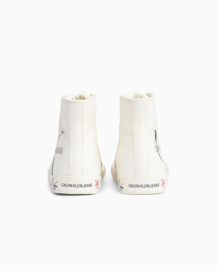 CALVIN KLEIN MONOGRAM HIGH TOP SNEAKERS
