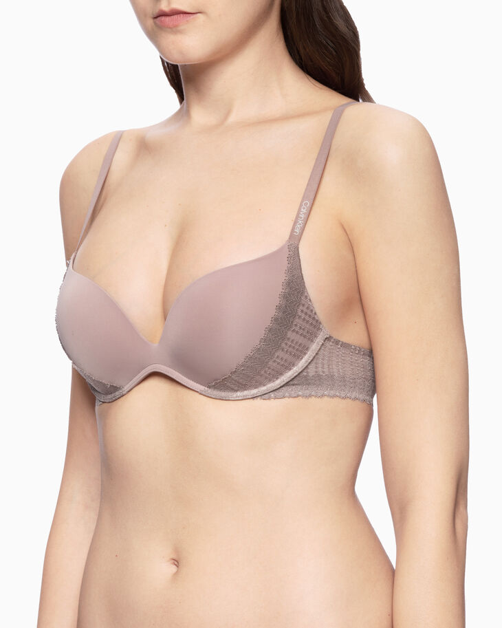 CALVIN KLEIN SCULPTED MODERN DOT PUSH-UP PLUNGE BRA