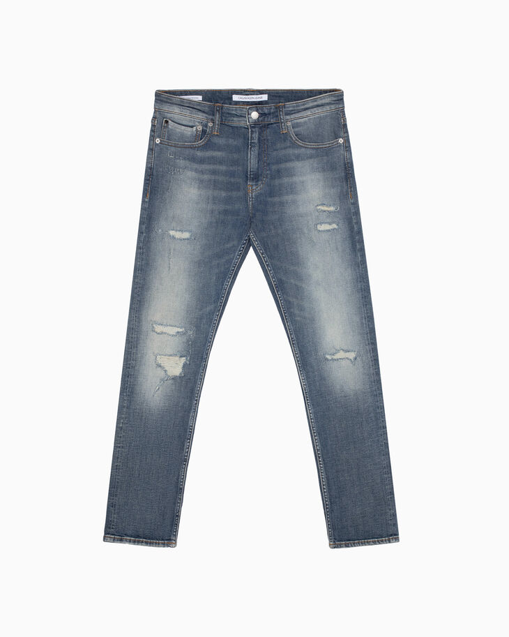 CALVIN KLEIN CKJ 026 DISTRESSED SLIM JEANS