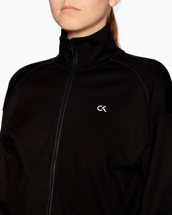 CALVIN KLEIN ACTIVE ICON DROP SHOULDER SWEAT JACKET