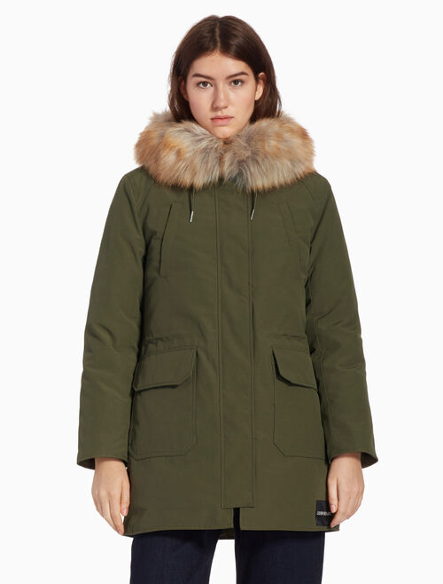 CALVIN KLEIN DOWN PARKA JACKET WITH HOOD