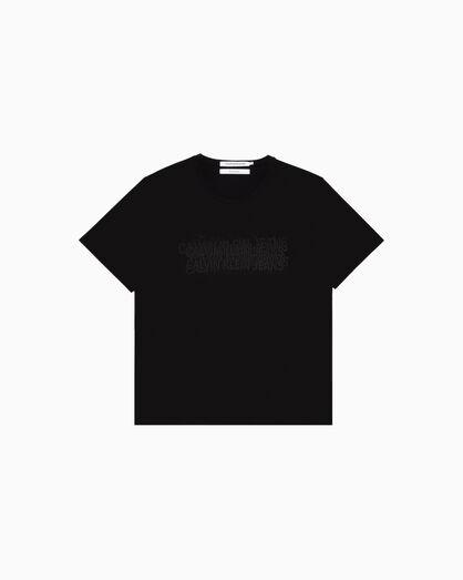 CALVIN KLEIN INSTITUTIONAL PIXELATED LOGO 티셔츠