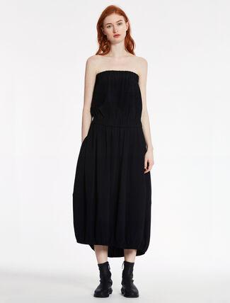 CALVIN KLEIN VISCOSE STRETCH STRAPLESS COCOON DRESS