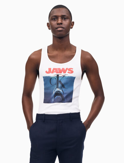 CALVIN KLEIN JAWS STRETCH RIBBED TANK TOP
