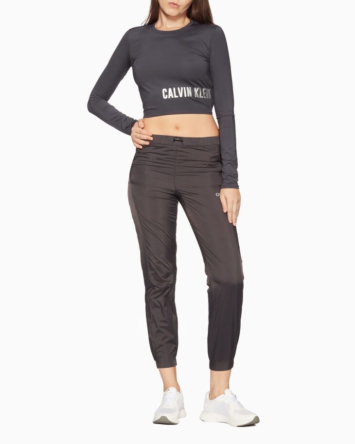 CALVIN KLEIN GRAPHIC STORY LOGO CROPPED TEE
