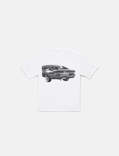 CALVIN KLEIN CAR GRAPHIC CREWNECK T-SHIRT