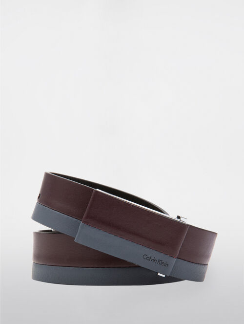 CALVIN KLEIN LEATHER COVERD BUCKLE BELT