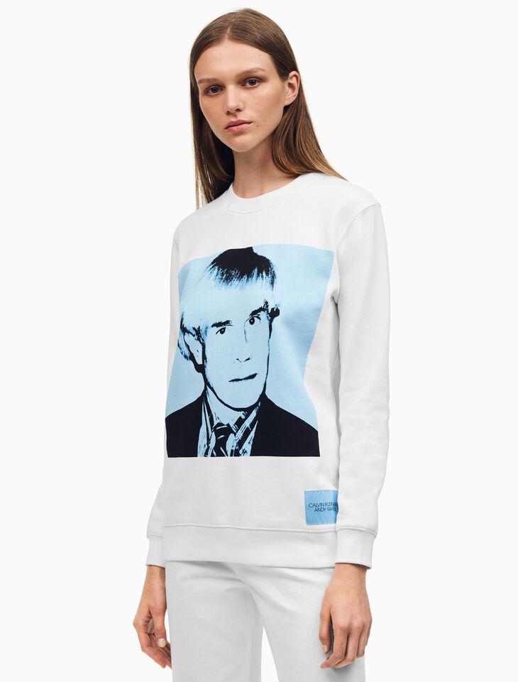 CALVIN KLEIN Warhol Portrait Relaxed Fit Crewneck Sweatshirt