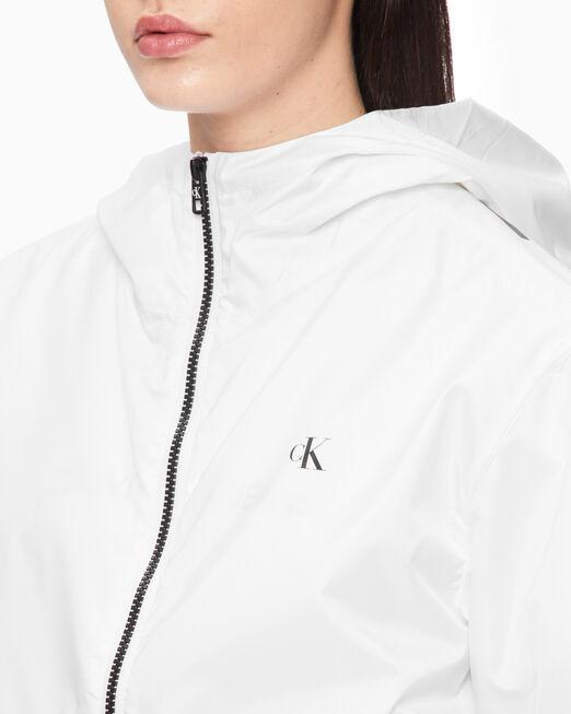 CALVIN KLEIN 여성 플러스 라지 CK 후드 집업 자켓