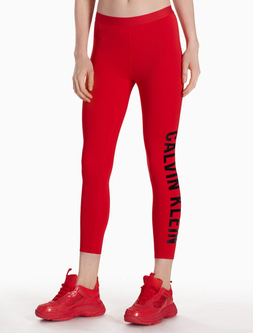 CALVIN KLEIN LOGO ANKLE LEGGINGS