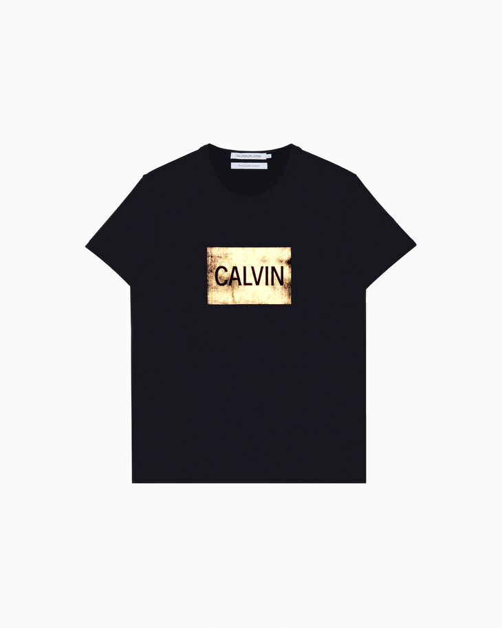 CALVIN KLEIN METALLIC LOGO BOX 合身上衣