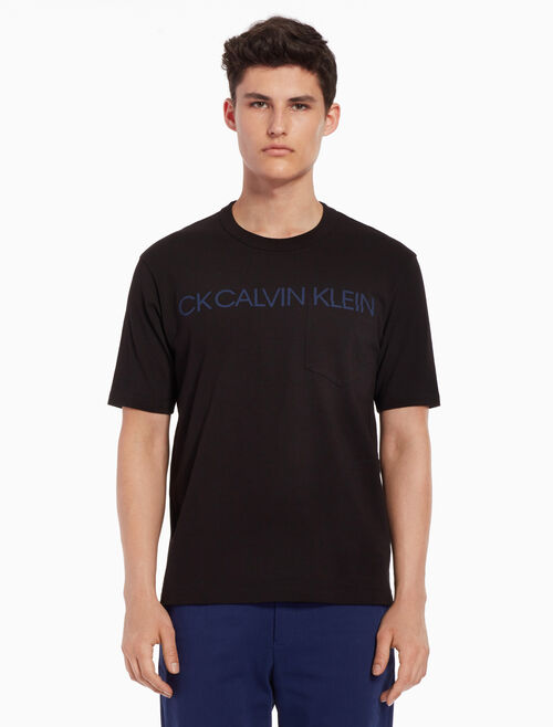 CALVIN KLEIN Logo print tee with chest pocket