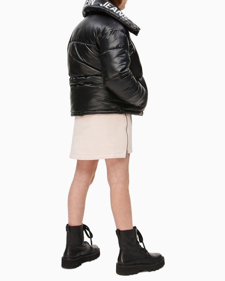 CALVIN KLEIN GIRLS' LOGO BOXY PUFFER JACKET