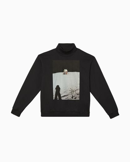 CALVIN KLEIN MOON LANDINGS ROLL NECK GRAPHIC SWEATSHIRT