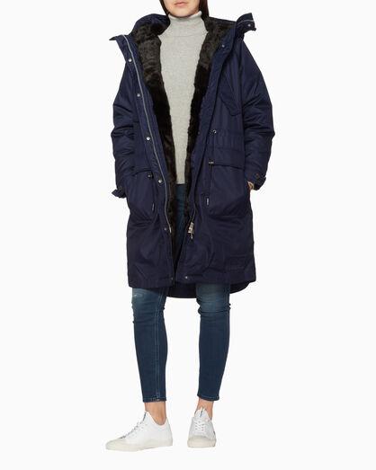 CALVIN KLEIN FUR-LINED 다운 파카 재킷