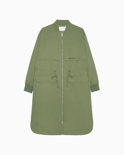 CALVIN KLEIN COTTON NYLON 長版風衣外套