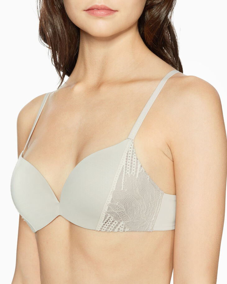 CALVIN KLEIN CK FORM GEO LACE PUSH-UP PLUNGE BRA