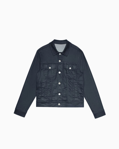CALVIN KLEIN MATT WAXED DENIM TRUCKER JACKET
